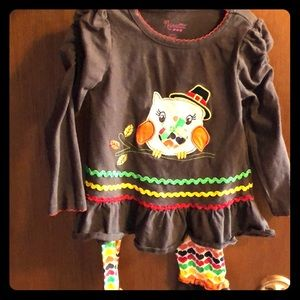 Girls 2t thanksgiving outfit
